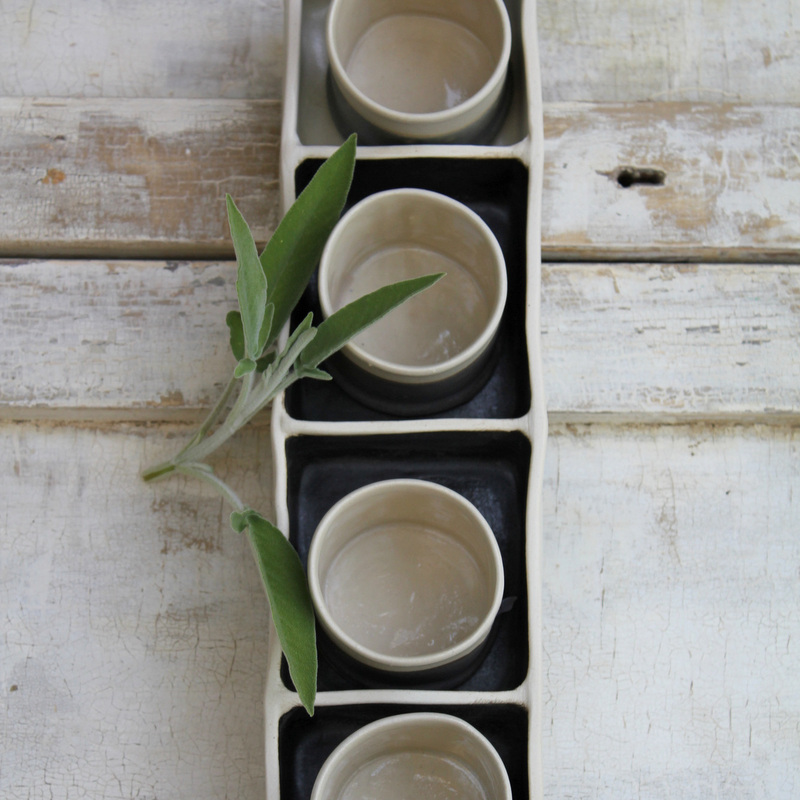 tea cups in tray