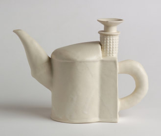 porcelain teapot with textures
