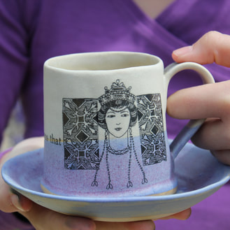 purple women series mug