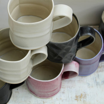 laurie goldstein textured mugs